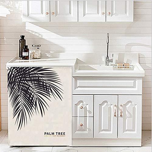 JIAMIN Staubschutz von Waschmaschine Trommel Waschmaschinen-Abdeckung Tuch Staubtuch Sonnenschutz Balkon Schränke Vorhänge Badezimmer Schrank Vorhänge Staubschutz von Waschmaschine
