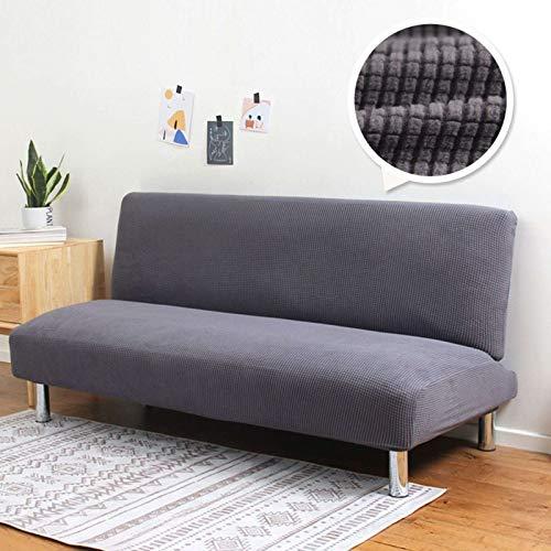 GOPG - Funda de sofá sin reposabrazos, elástica, suave, gruesa, antideslizante, resistente a la humedad, para salón de 1, 2, 3, 4 plazas, 1 plaza, 120 - 150 cm I