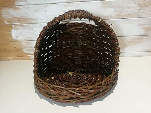 Lovinbirds Legenest Hühnernest XL Groß Nest für Hühner aus Weide Ø 45 cm