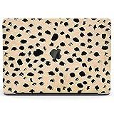 Wonder Wild Case Compatible for MacBook Air 13 inch Pro 15 2019 2018 Retina 12 11 Apple Hard Mac Protective Cover 2017 16 2020 Plastic Laptop Leopard Print Pattern Black Spotted Blotch Dots Cute