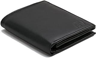 Portafoglio nero in vera pelle in formato verticale del modello -WSH91-