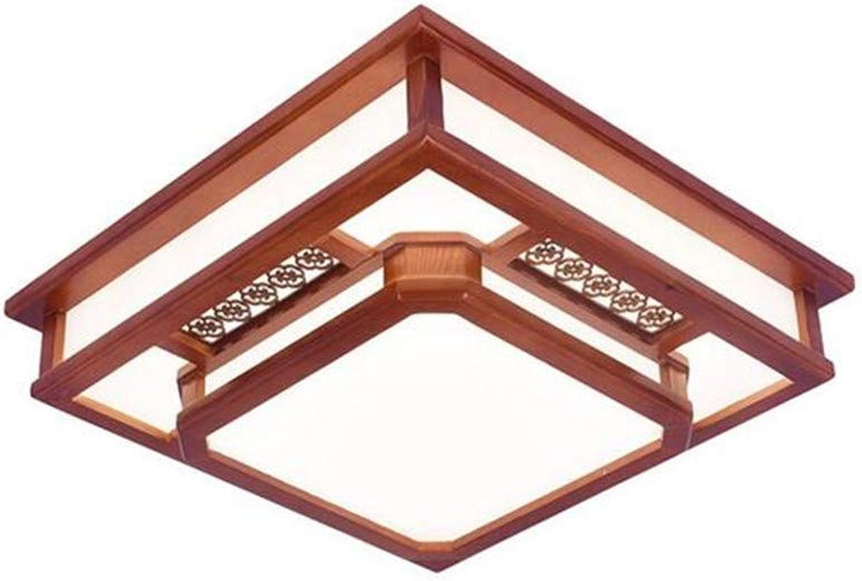Led-leuchten Edison Lights Moderne Antike Holz Acryl Schatten Deckenleuchte, Wohnzimmer Korridor Platz Beleuchtung (Gre  46 Cm)