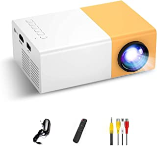 Mini Projector, Portable Projector for Cartoon, Kids Gift, Outdoor Movie Projector, LED Video Projector for Home Theater M...