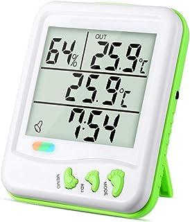 YIN YIN, higrómetro Temperatura, Temperatura electrónico de Alta precisión higrómetro Oficina termómetro seco Interior y E...