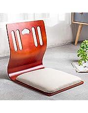 Silla de piso portátil, silla japonesa de suelo, silla de meditación sin piernas Tatami con soporte trasero para lectura de videojuegos G
