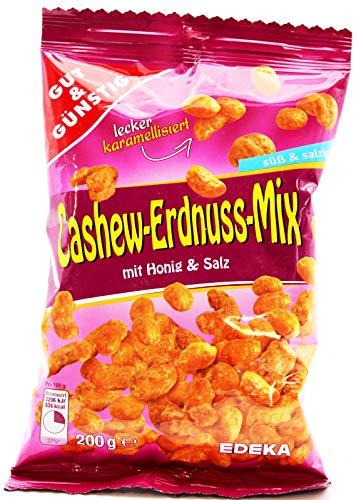 Gut und Günstig Cashew-Erdnuss-Mix mit Honig und Salz, 9er Pack (9 x 200g)