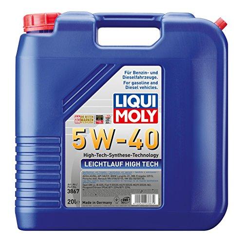 LIQUI MOLY 3867 Leichtlauf High-Tech-Synthese Motoröl 5W-40, 20 L