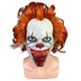 ZFBMY Nuevo Clown Mask Horror Headset Cosplay Halloween Head Set Horror Big Mouth with Blood Back to The Ghost Clown,Horror Big Mouth with Blood Back to The Ghost Clown