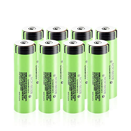 HTRN 18650b 3.7v 3400mah Ithium Battery, Botón Superior Bateria para Mini Fan Torch 8Pcs