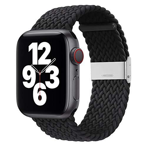 Danwon Solo Loop trançado,Compatível com Apple Watch Pulseira 44 mm, 40 mm, 38 mm, 42 mm, à prova de suor e respirável, com fivelas elásticas ajustáveis para iWatch Series 6/SE /5/4/3/2/1