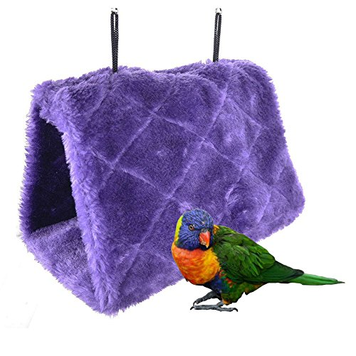 Bello Luna Purple Parrot Nest Pet Bird Nest Winter Warm Hangmat Opknoping Cave Cage Pluche Happy Hut Tent Bed (S)