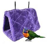 Bello Luna Nido de Loro púrpura anidar pájaro Mascota Nido de Invierno cálido Hamaca Colgante Cueva Jaula de Felpa Happy Hut Tienda de campaña (M)