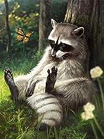 ダイヤモンドアート ラインストーンモザイク工芸ホームデコレーションのアライグマのフルスクエア動物の画像を絵画Evershineダイヤモンド MDYJP (Color : 5290, Size : Full Square 60X80cm)