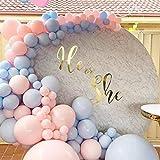 Kit con palloncini blu e rosa, per feste di nascita, per bambini e bambine, 110 pezzi di palloncini rosa e celeste per feste di sesso o di sesso, decorazioni per feste di nascita.