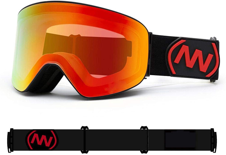 Yxx max Male And Female Ski Goggles Double Anti-fog Ski Glasses Single And Double Board