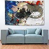 PEKSLA Tapiz de Pared Grande Tapiz de Pintura Rem Ram Impresión 3D 200cmx150cm 2 Tapiz de Pared Corona de Tapices de decoración