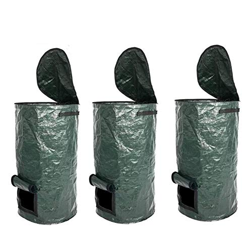 New Finly Garden Waste Bags Reusable, Reusable Yard Waste Bags Heavy Duty - Gardening Bags with Lids...