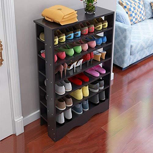 Hoge meerlagige laag, 50 paar, zwarte schoenen, schoenenrek, schoenenkast, schoenenkast voor de hal, slaapkamer, woonkamer, zwart