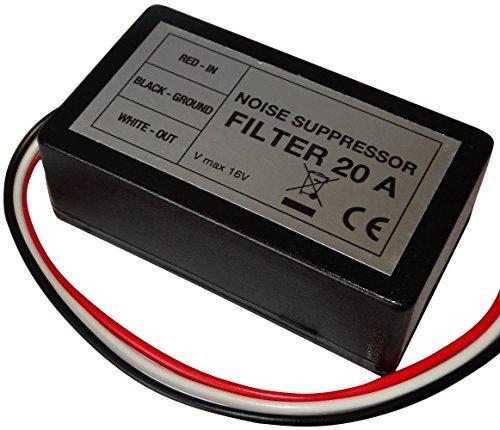 Aerzetix ontstoringsfilter 20 A 12 V auto geluid autoradio