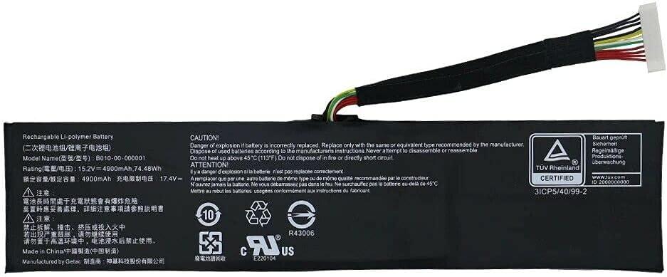 B010-00-000001 B010-00-000005 wholesale Laptop Battery SC17 Ranking TOP20 EVGA for GETAC