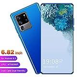 Teléfono móvil de doble modo de espera con doble tarjeta de teléfono inteligente de 2GB + 16GB, cámara HD y reconocimiento facial, batería de iones de litio recargable de 3500 mah, pantalla(blue)