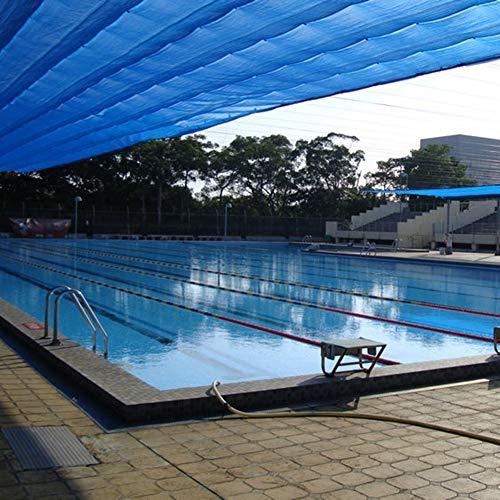 PZFC Mallas De Sombreo Jardin 80% Azul 6 Puntadas Protector Solar Pantalla de Tela Parque acuático Piscina de Coches Balcón sombreado Neto (Color : Blue, Size : 4x5m)