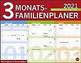 3-Monats-Familienplaner Kalender 2021