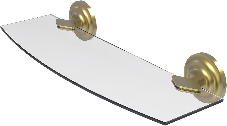 Allied Brass QN-33 18-SBR QN-33 18-VB Triple Corner Glass Shelf Matte Black