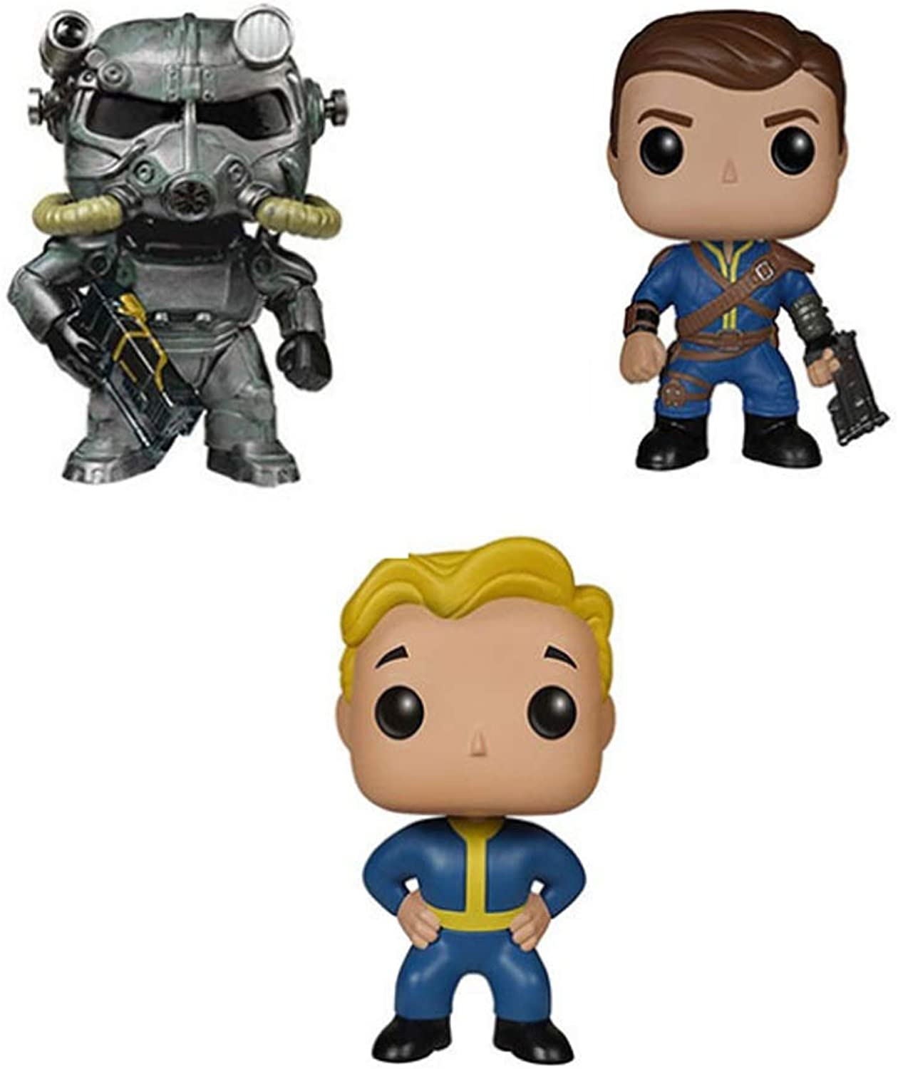 POP  Game Action Character Model(3Piece) Blond Man Armored Warrior Shooting Kid Action Figure