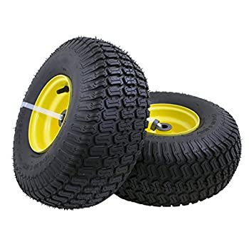 15x6.00-6  Front Tire Assembly Replacement for 100 and 300 Series John Deere Riding Mowers - 2 pack