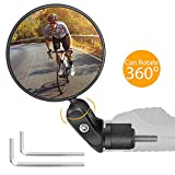 yumcute Espejos de Bicicleta, 1 Piezas 360 Grados Giran Ajustable Espejo Retrovisor, Espejo Retrovisor Bicicleta, para Mountain Road Bike,Bicicletas de montaña