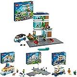 LEGO60291CityCasaFamiliarCasadeMuñecasModernaconPlacasdeCarretera + 60253CityCamióndelosHeladosconFurgoneta + 60304CityBasesdeCarretera + 60249CityBarredoraUrbana