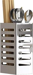 XI FA Baril de Baguettes de Rangement de Cuisine en Acier Inoxydable, sans Perforation