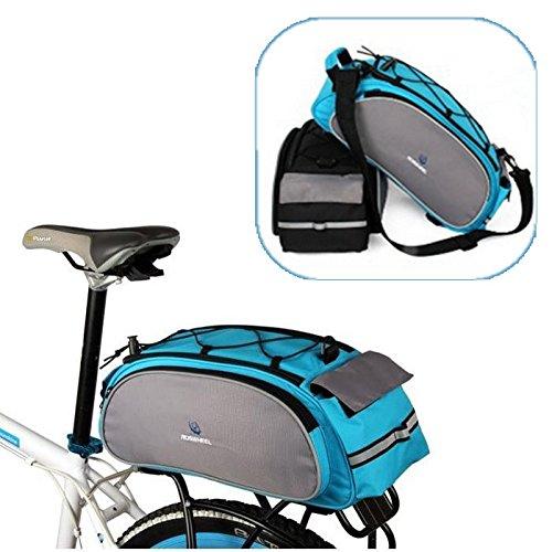 Global Brands Online Roswheel - Alforja para Asiento Trasero de Bicicleta (Doble Cara)