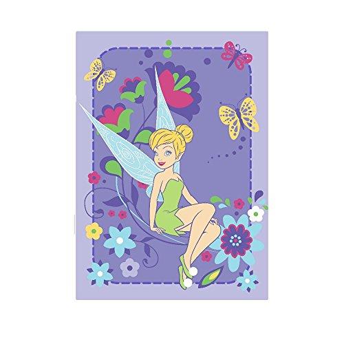 GUIZMAX Compatible avec Tapis Enfant Fee Clochette 133 x 95 cm Flowers
