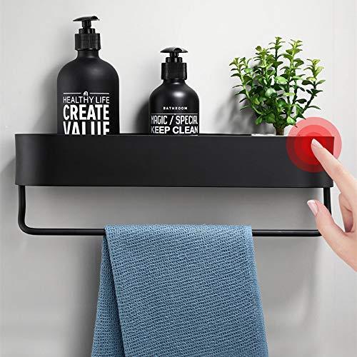 anruo Zwarte badkamerplank keuken wandplank douchebak opbergrek handdoekbeugel kapstok badkameraccessoires