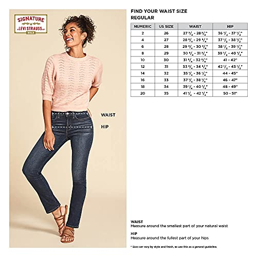 Signature by Levi Strauss & Co. Gold Label Women's Totally Shaping Pull-On Skinny Jeans, Immaculate, 14 Long