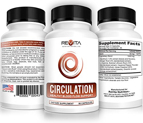 Circulation Vein Health Blood Pressure Support Supplement - Natural...