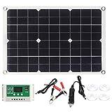 Zerodis Kit de Panel Solar de 20 W, Controlador de Carga Solar...