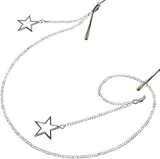Sopaila Metal Pentagram Eyeglass Chain Holder Necklace Sunglasses Strap Cords with Star