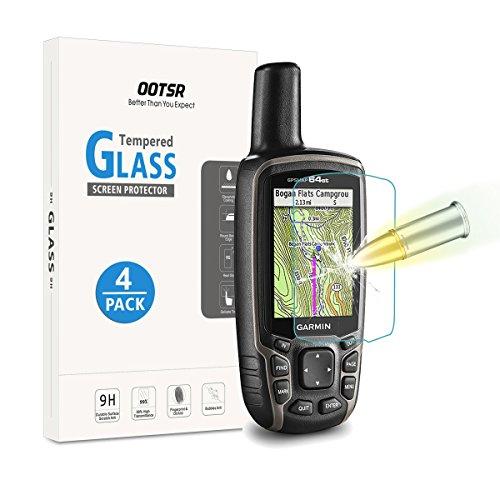 [4 Pezzi] OOTSR Protettore di Vetro Temperato Garmin GPSMAP 62 62s 62st 62sc 62stc 64 64s 64st 64sc Pellicola Protettiva [Resistente ai graffi]