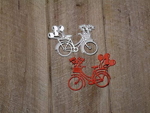 Fustella: bicicletta con fiori.