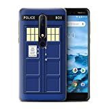 Stuff4 Phone Case for Nokia 6 2018 (6.1) Tardis Phone Box