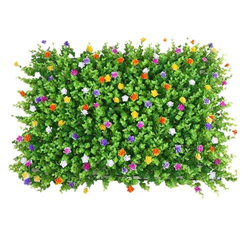 WanuigH-Home Wurzelnackte Grün Hedging 12 Stücke künstliche Boxwood Panels Topiary Heckenpflanze for Outdoor Indoor Patio Fence Baum Pflanzen (Farbe : Grün, Größe : 60x40cm)