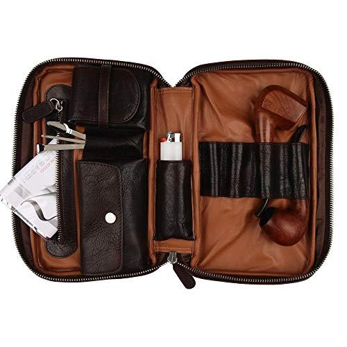Porta cachimbos NERONE Travel Case couro marrom vintage