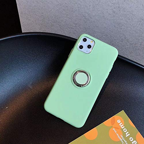 Travel Siliconen Phone Case for iPhone 11 Pro Max X XS XR Condom Shockproof Cover Total beschermhoes met Ondersteuning (Color : Green, Material : For iPhone 11)