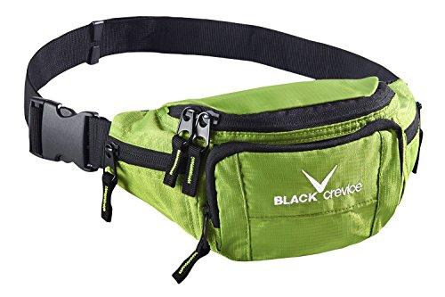 Black Crevice Riñonera, Color Verde, tamaño Talla única, Volumen Liters 2.0