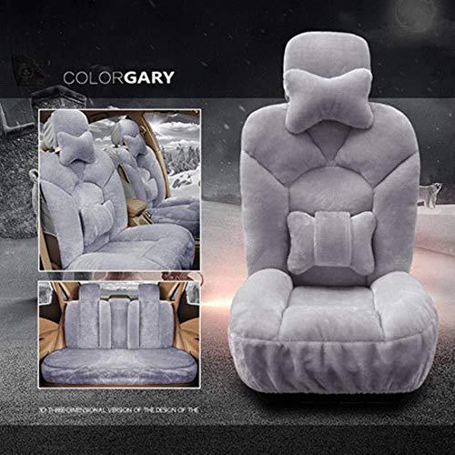 Autostoelhoes Winter Nieuwe Pluche Auto Stoelhoezen Universeel voor Toyota Corolla Chr Auris Wens Aygo Prius Avensis Camry 40 50 Grijs