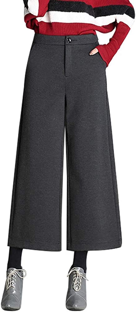 EVEDESIGN Women's Wool Blend Complete Free Shipping Shipping included Wide Leg Pants Winter Hi Warm Thick