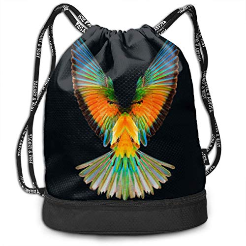 BAGGNICE Fashion Outdoor Shopping Satchel Rucksack Backpack Bundle Pocket Drawstring Bag Daypack, Logan Paul Logang Logo